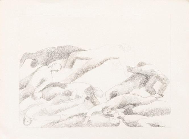Untitled sketch - corpses laid on each other