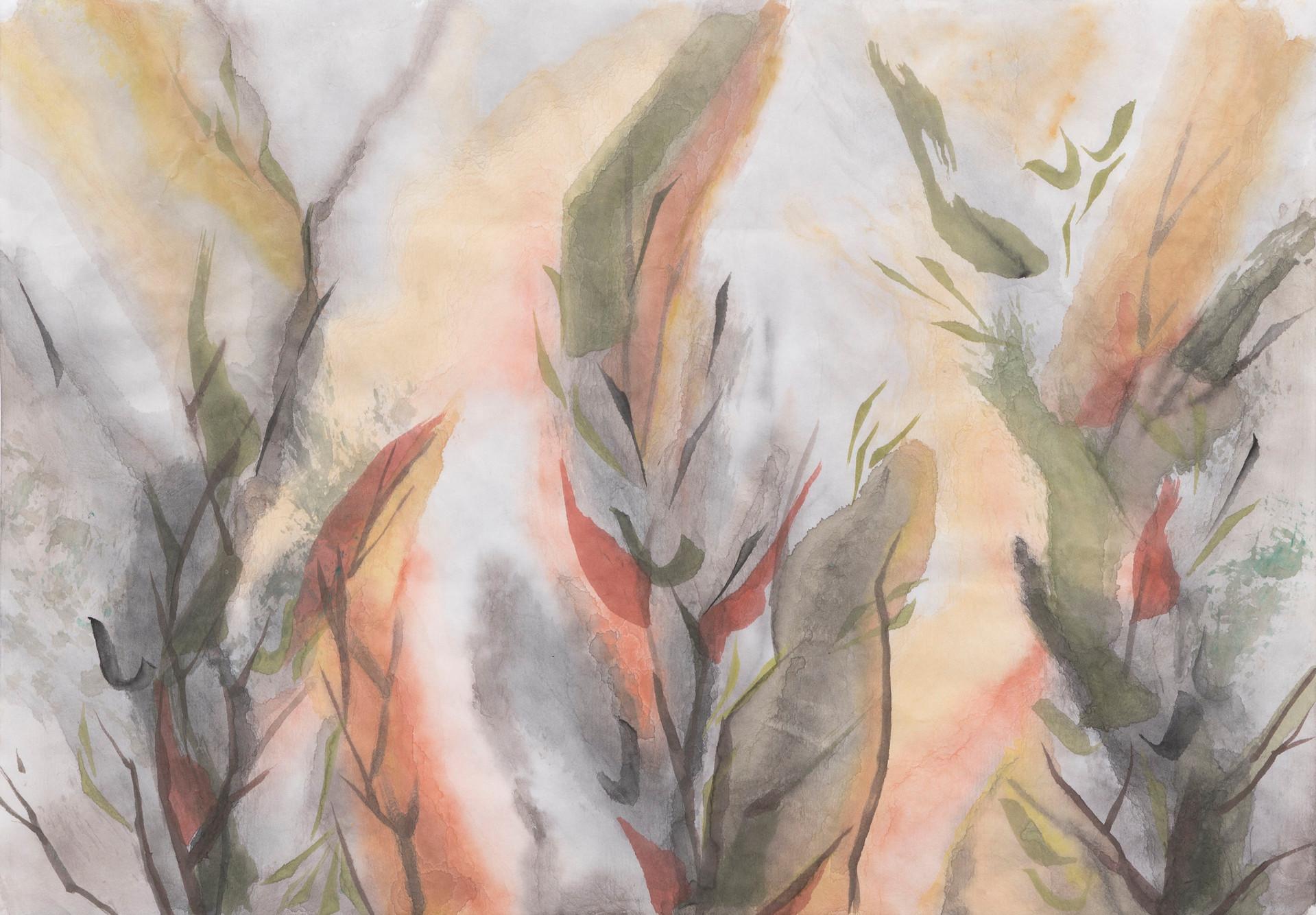 Untitled - three plants, autumn color