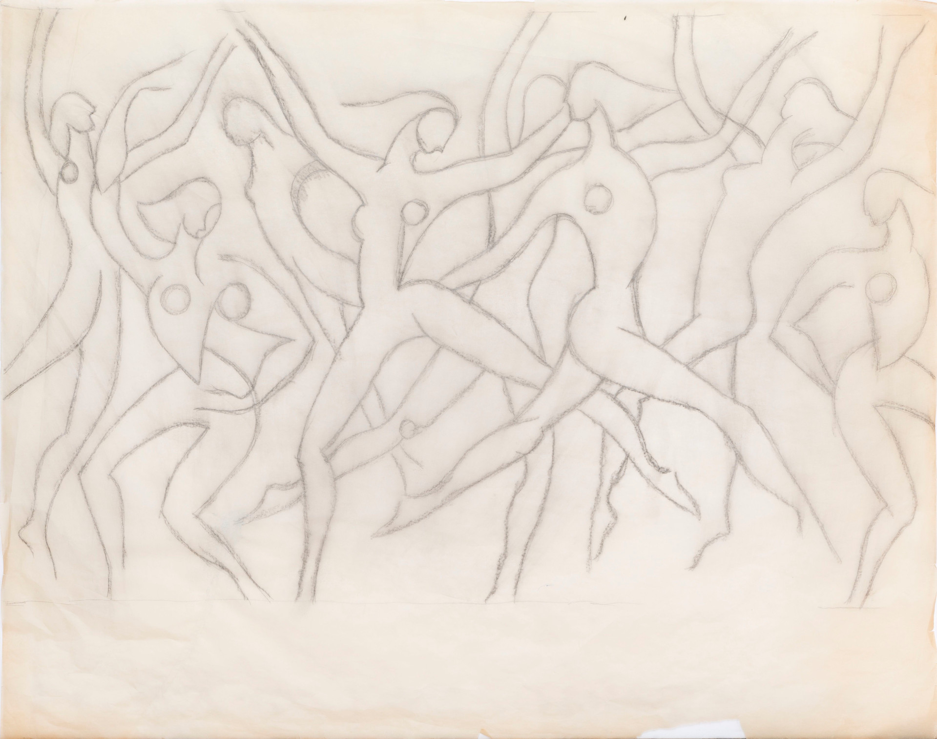 Drawing for Dance Movement (many abstract nudes)