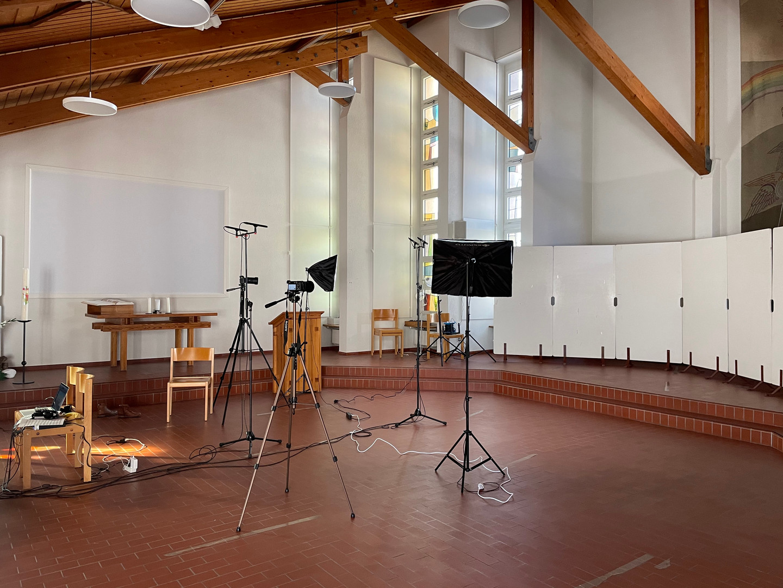 Audiovisual recording in church