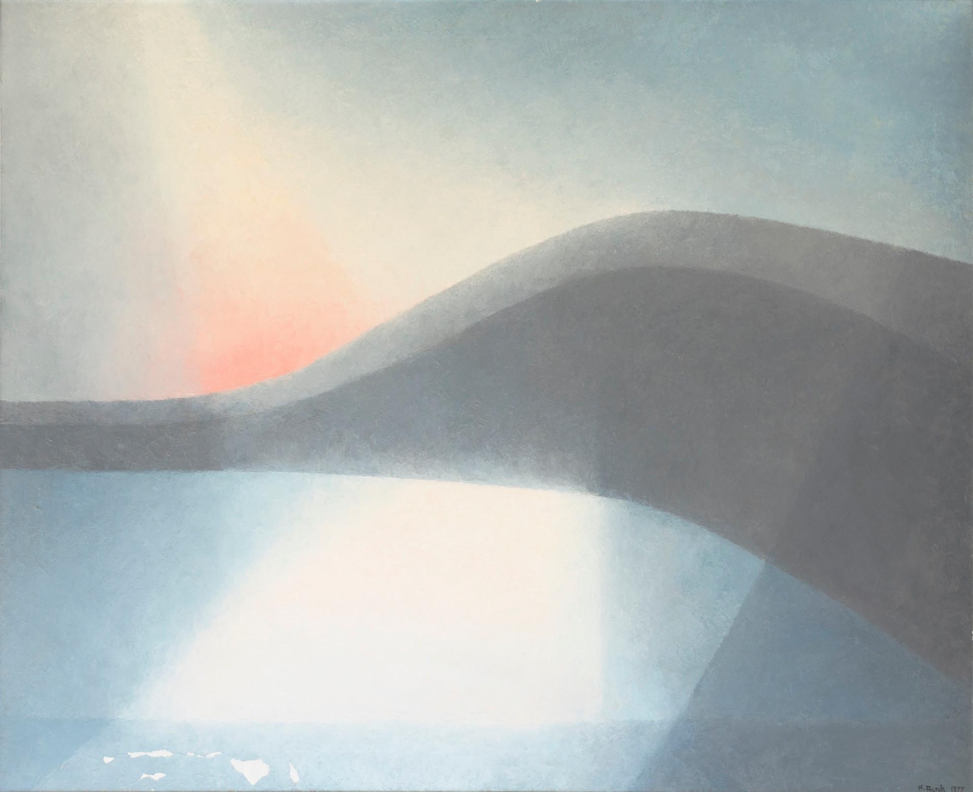 Gray Landscape (Lake Sunset)