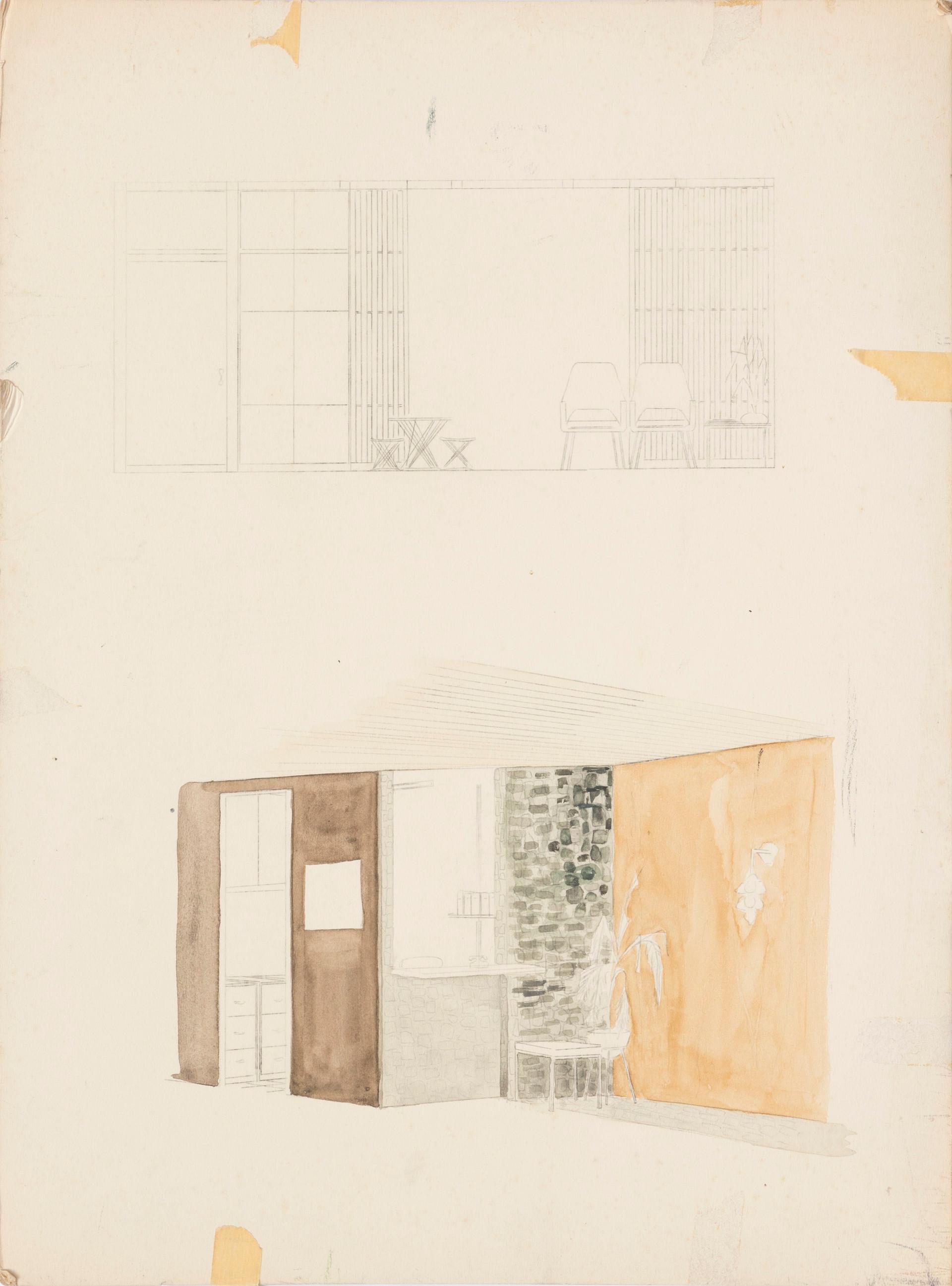 Untitled sketch - sketches of interior scene
