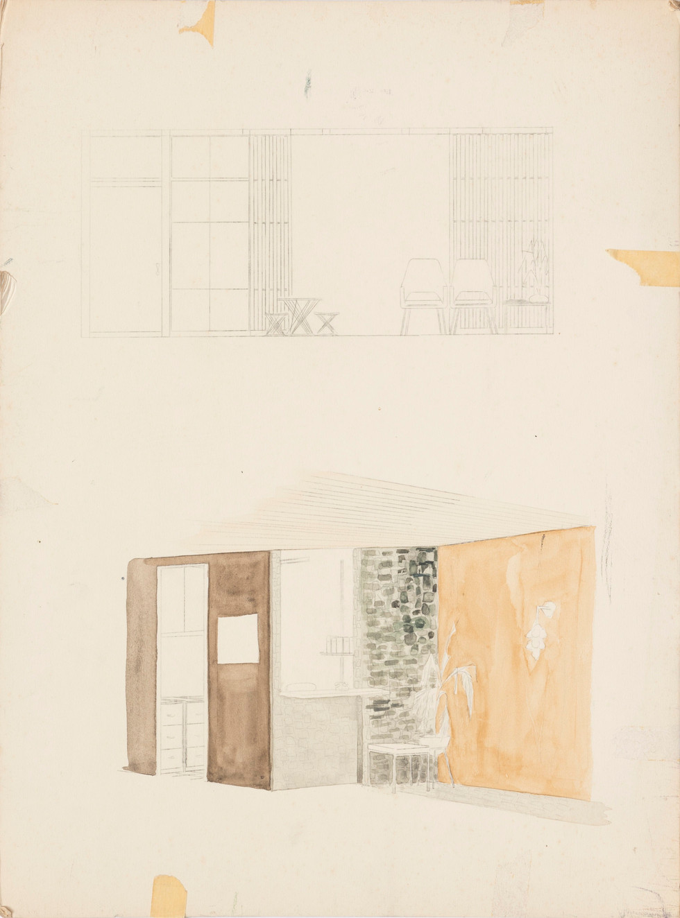 Untitled sketch - sketches of interior scene