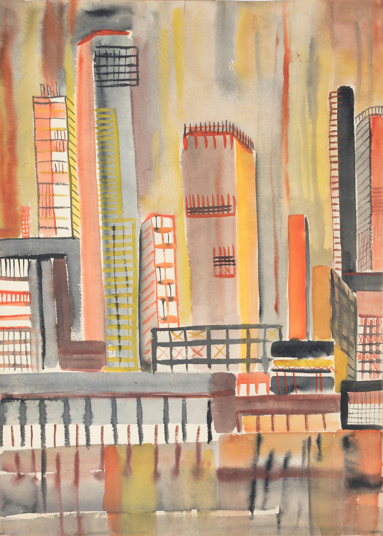 Untitled - cityscape, orange tone