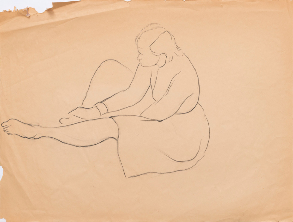 Untitled sketch - sitting figure