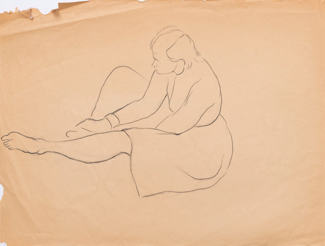 Untitled sketch - sitting figure