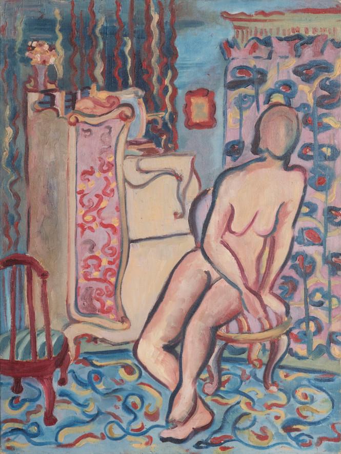 Untitled - nude sitting on stool
