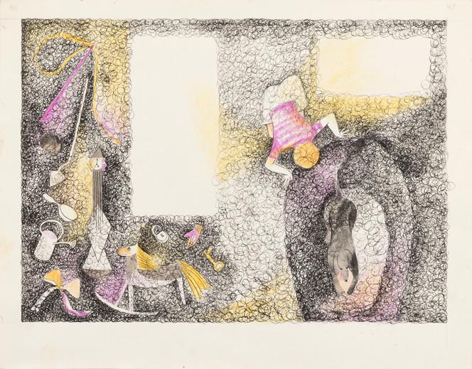 Untitled illustration page 46, 47 (boy and dog)