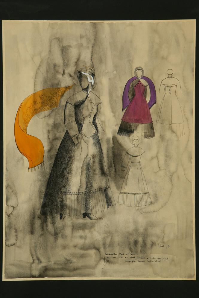 Costume design for Leah in The Dybbuk