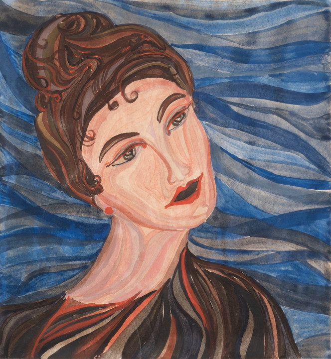 Charles Morgan: The Voyage: woman with blue background