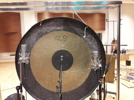 Percussion recording session