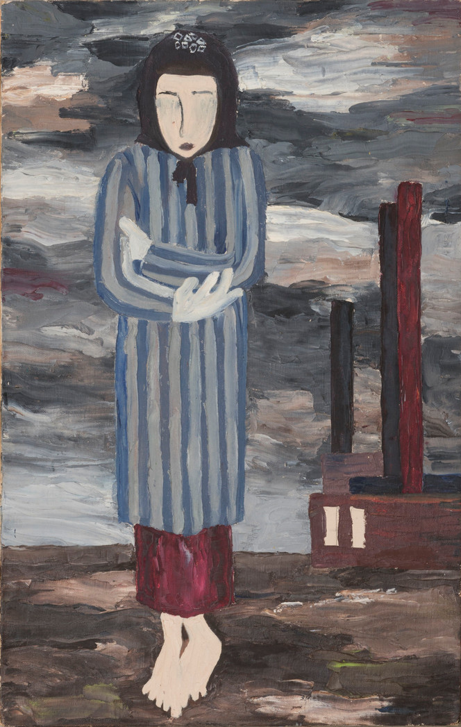 Untitled - woman in blue coat