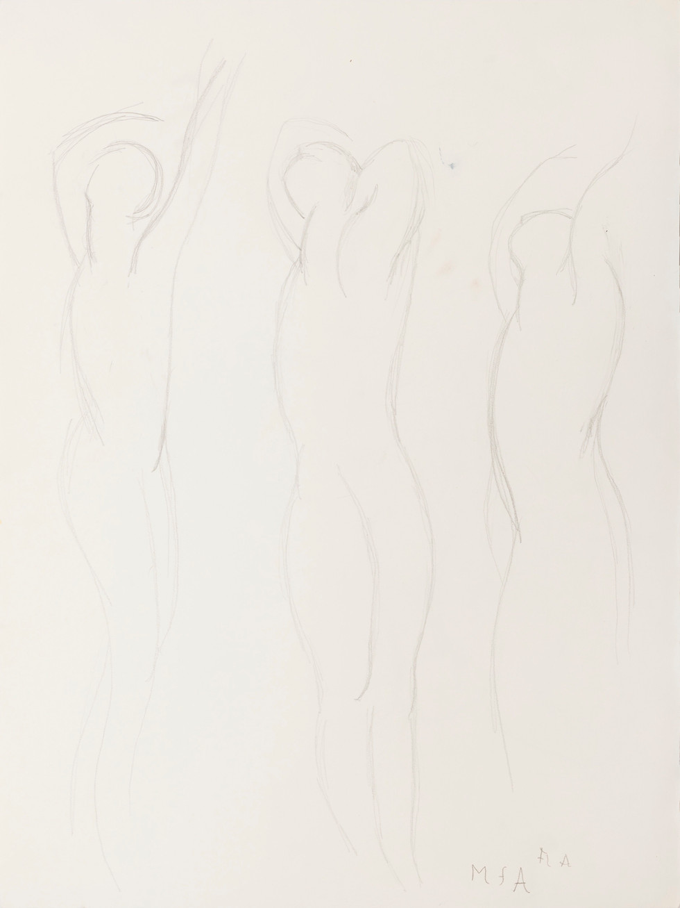 Untitled - three standing nudes (Front)