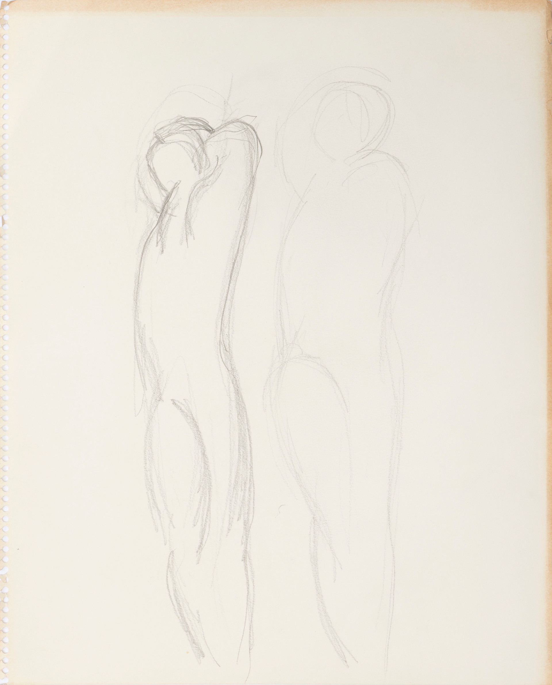Drawing for Dance Movement (two parallel figures )