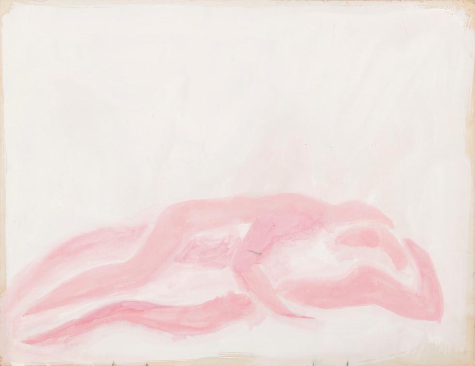 Untitled sketch - two pink figures hugging