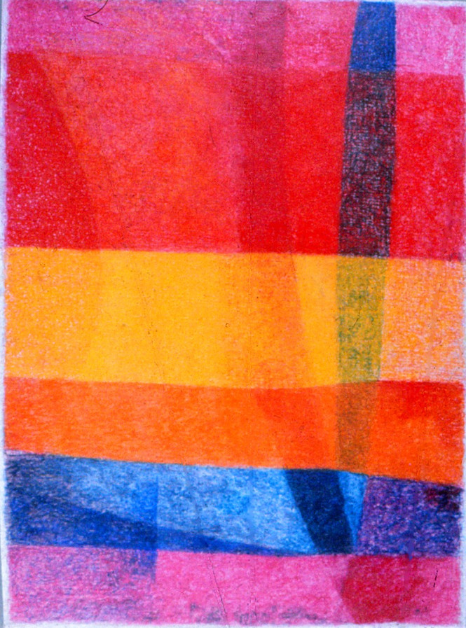 Untitled - red, orange, yellow and blue color fields