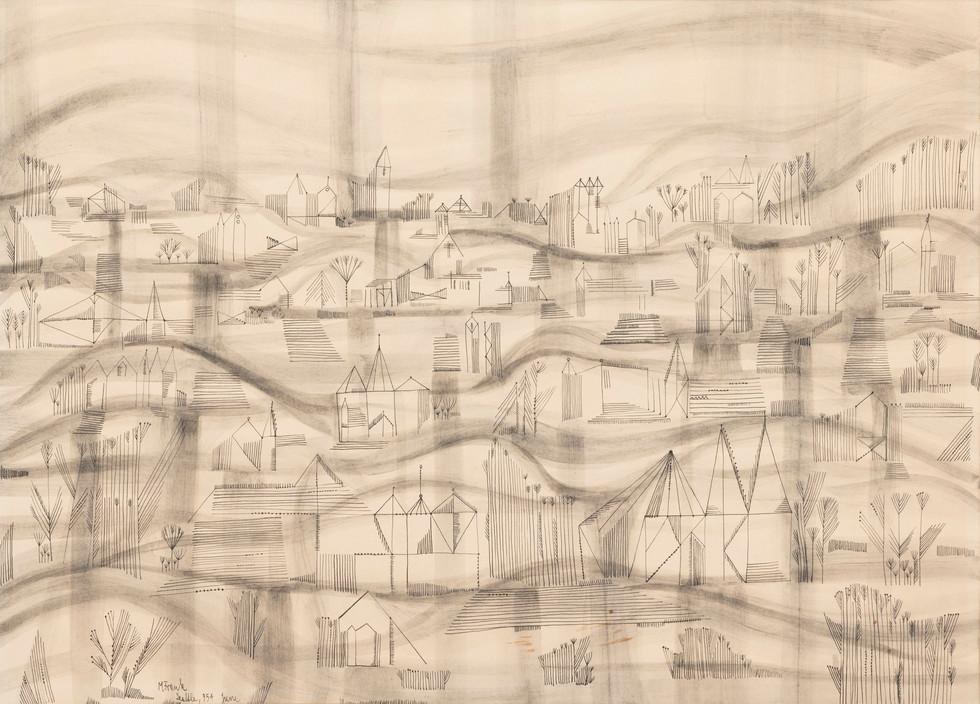 Untitled - cartoonish buildings on hills