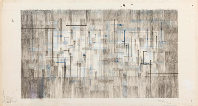 Untitled - gray and blue blocks