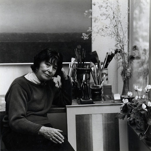 Maria Frank Abrams in studio, ca.1995
