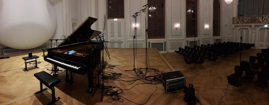 Piano recording session