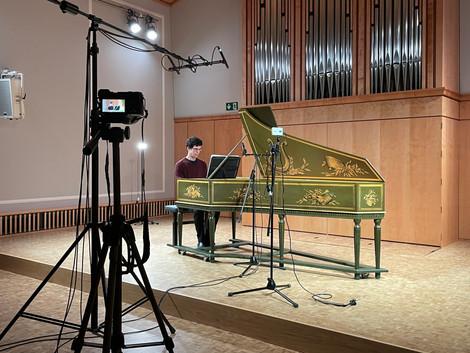 Recording Rani Orenstein, cembalo
