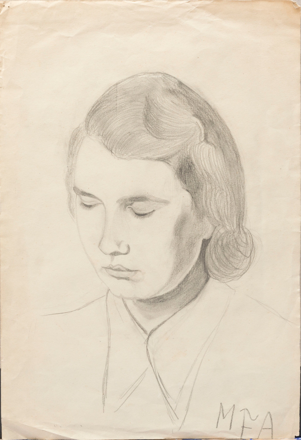 Untitled - portrait of a woman with eyes closed
