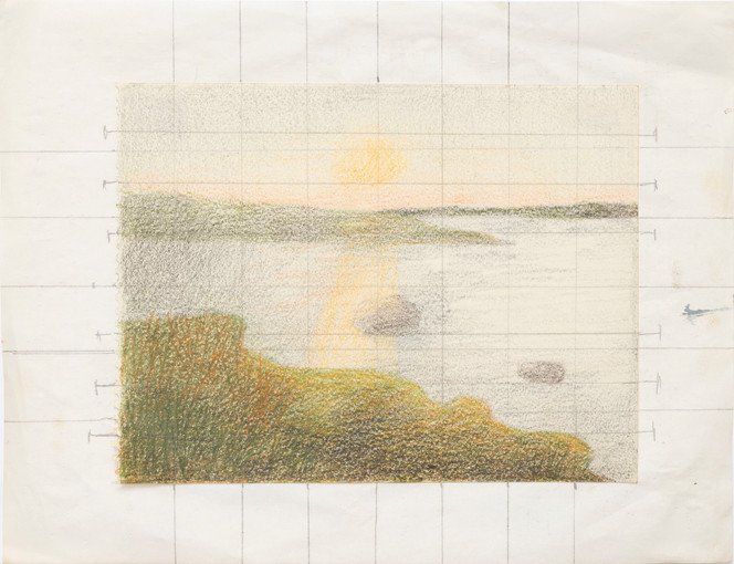 Sketch for Declining Day / Shimmering Lake