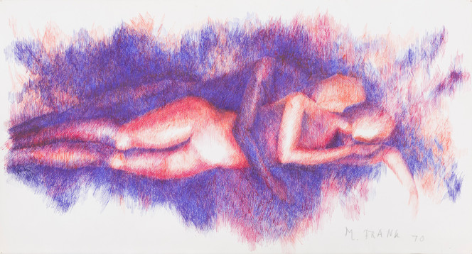 Untitled - two spooning figures
