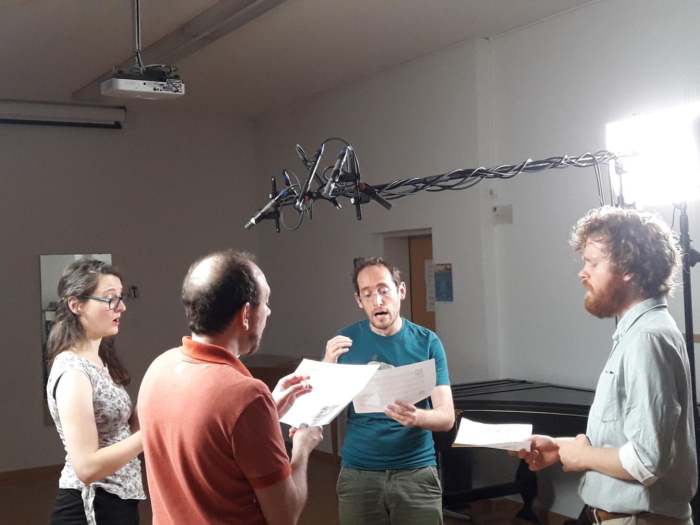 Recording members of Profetti della Quinta