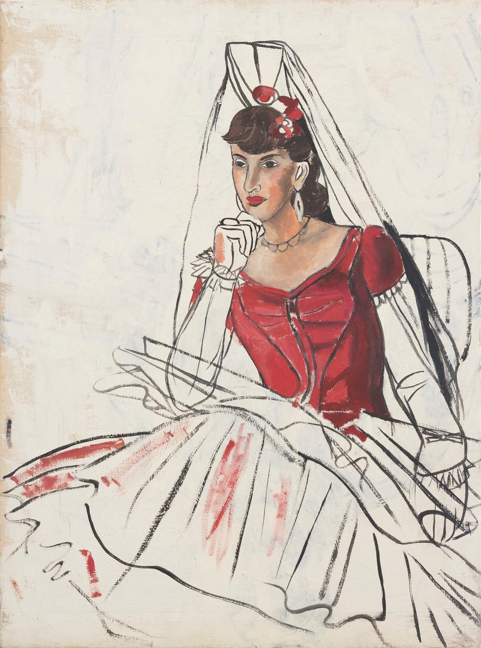 Untitled - portrait of singer Beth Haucings