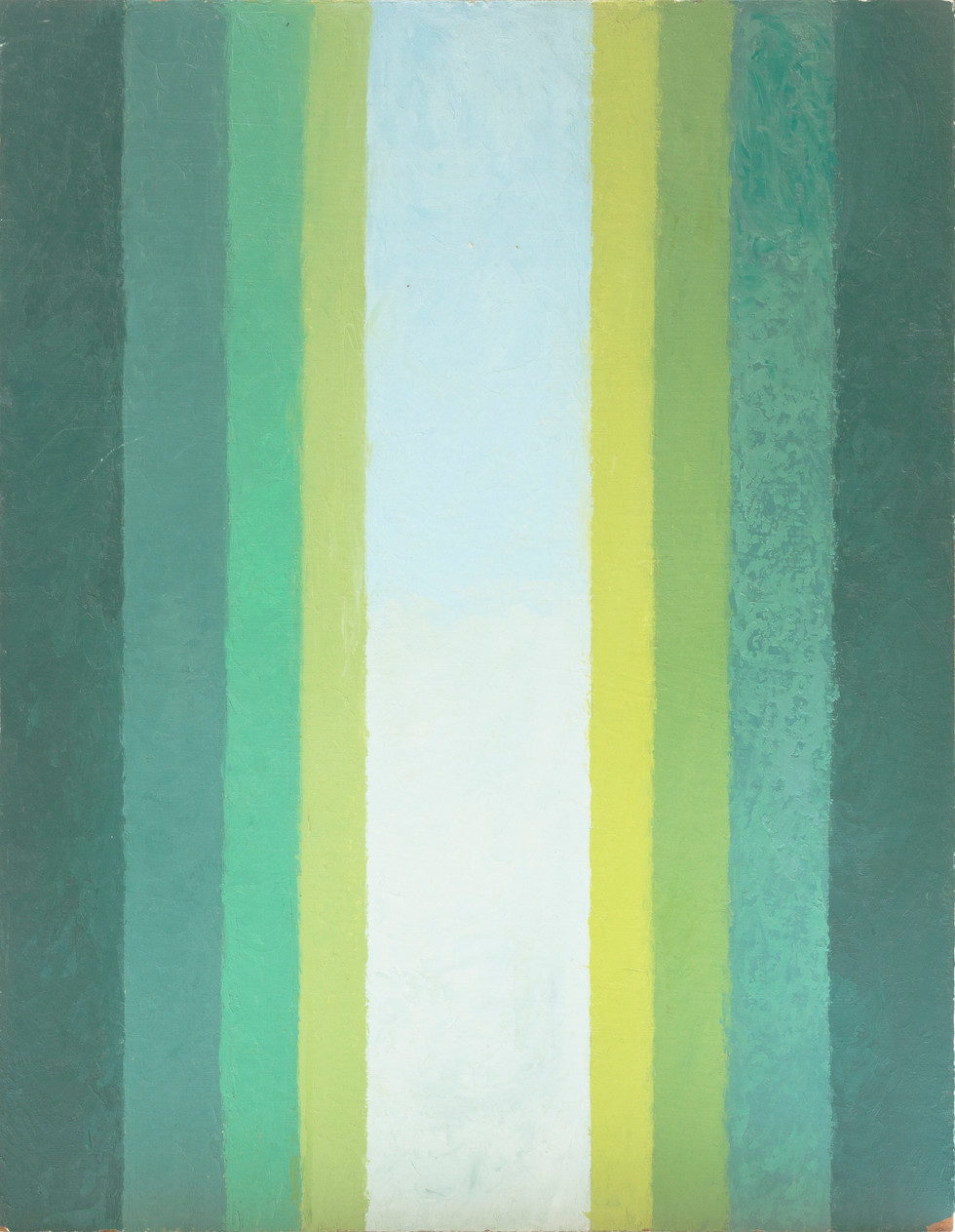Untitled - vertical green stripes
