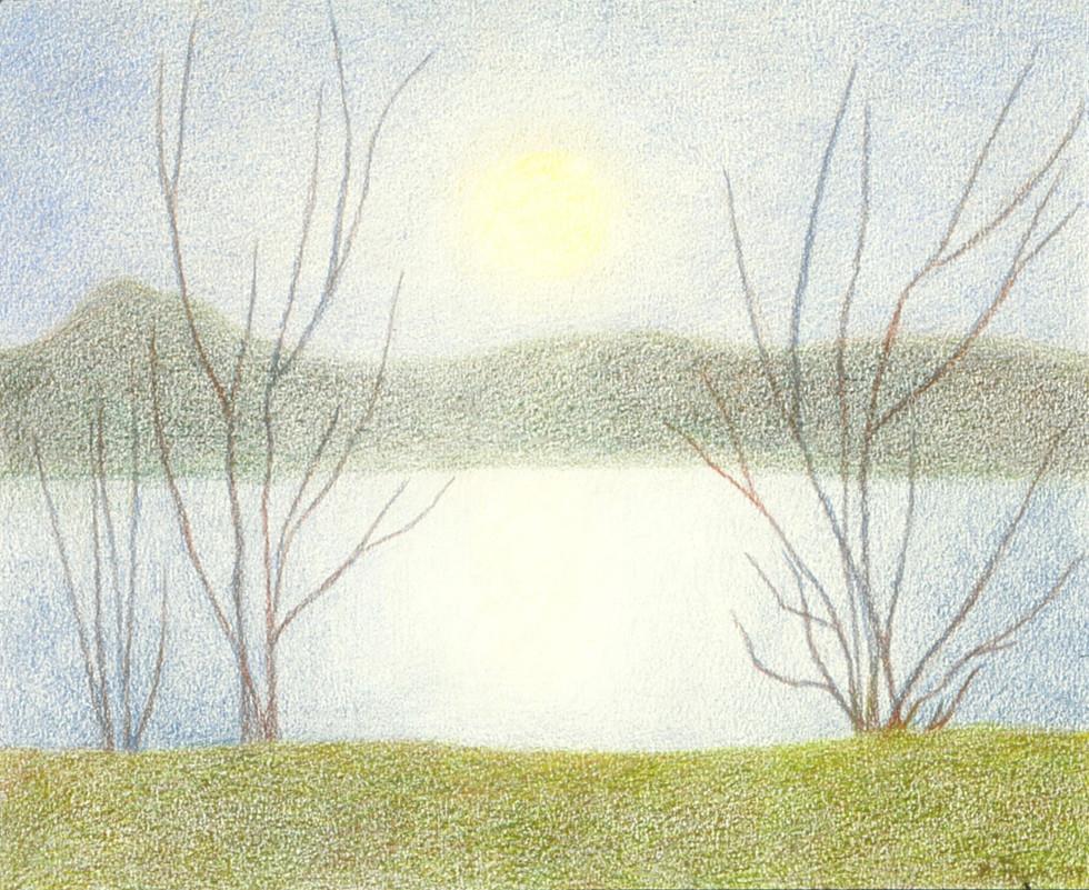 Winter's Early Moon