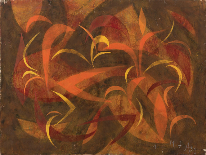Untitled - abstract autumn color leaves