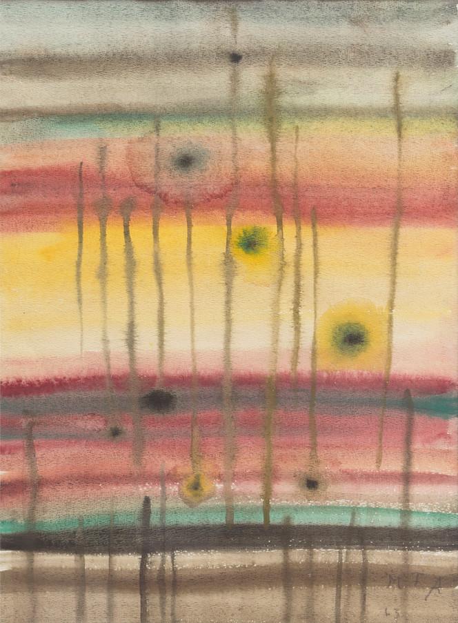 Untitled - flowers on rainbow background