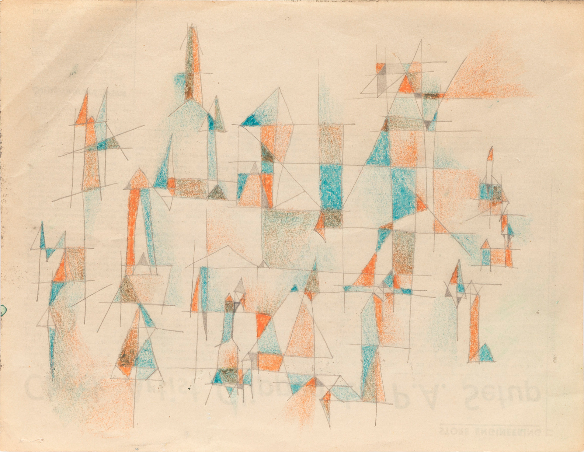 Untitled sketch - orange and blue blocks