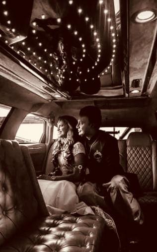 Mr & Mrs Praba Stylish Arrival by Limo Chrysler