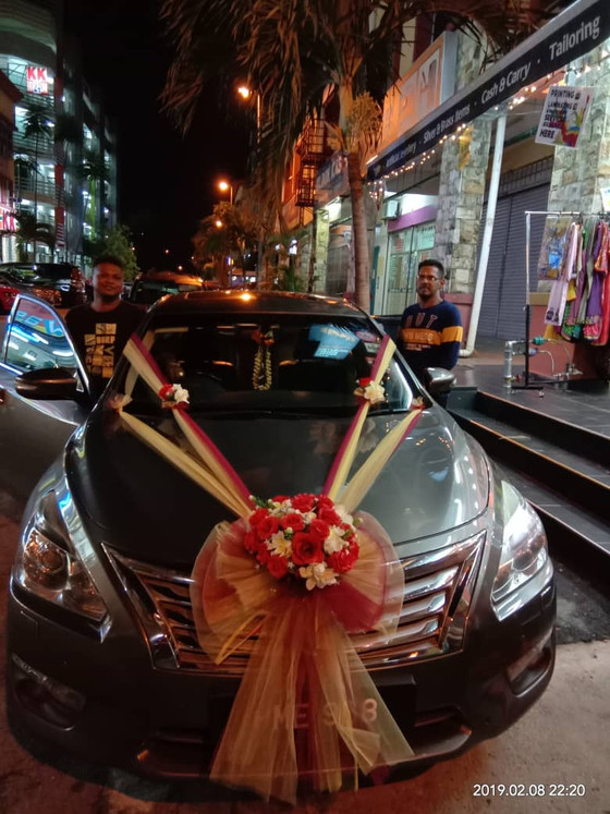 Wedding Car Decoration On 08.02.2019.....Happy Car Decoration Client...Thanks For The Patronage Roya