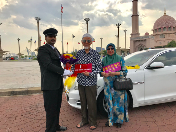 50thWedding Anniversary ofMr. Bakri & MadamHaini - Surprise Chauffeur Service