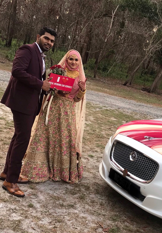 Lovely Couple Wedding Car Service On 25.08.2019 Port Dickson .Happy  Client...Thanks For The Patrona
