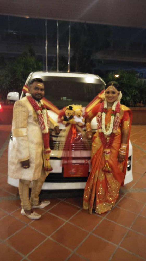 Royal Wedding Car Decoration On 13.07.2019.....Happy Car Decoration Client...Thanks For The Patronag