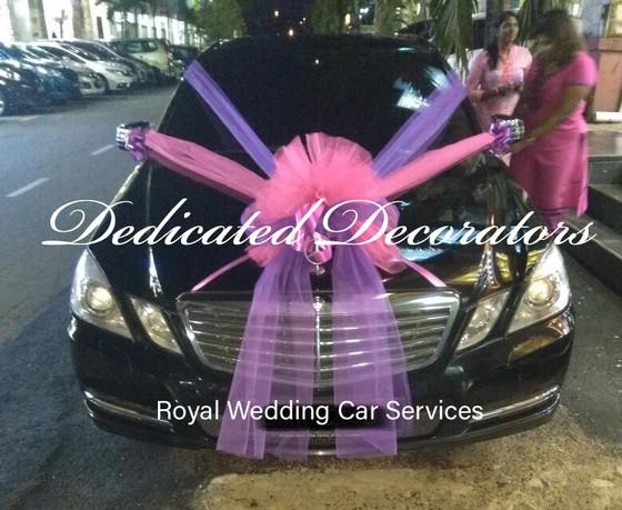 Mercedes E-Class Wedding Car Decoration