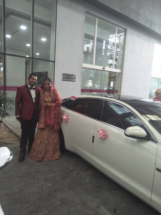 Lovely Wedding Car Decoration On 03.02.2019.....Happy Car Decoration Client...Thanks For The Patrona
