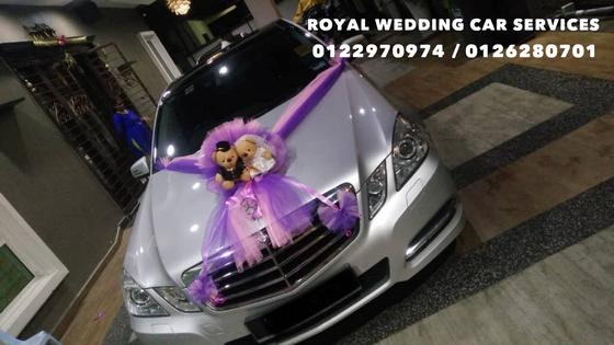Mercedes Benz E250 Wedding Car Decoration / Bridal Car Decoration