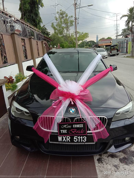 Beautiful Wedding Car Decoration On 26.01.2019.....Happy Car Decoration Client...Thanks For The Patr