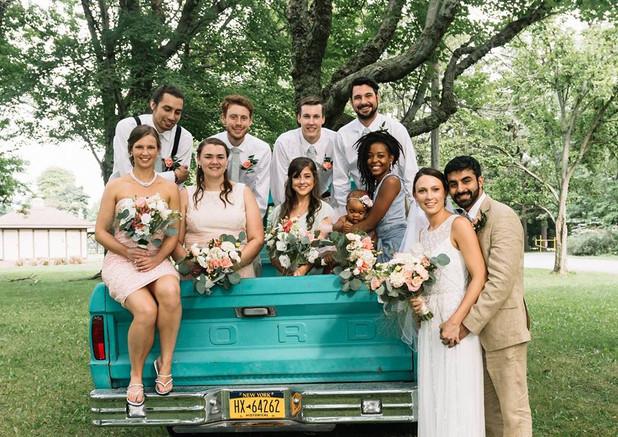 Vintage inspired BoHo Wedding