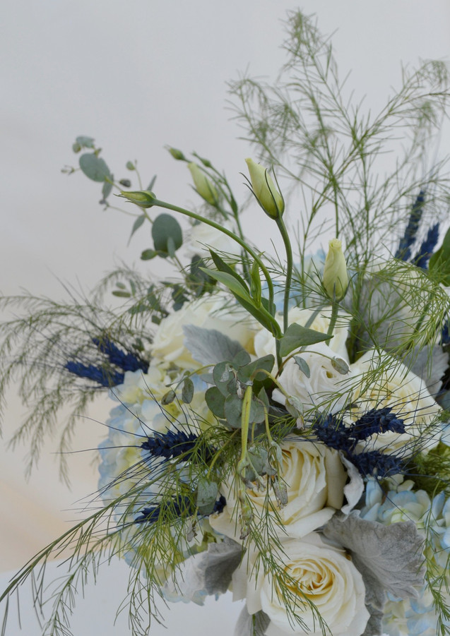 Dusty Blue Wedding Bouquet