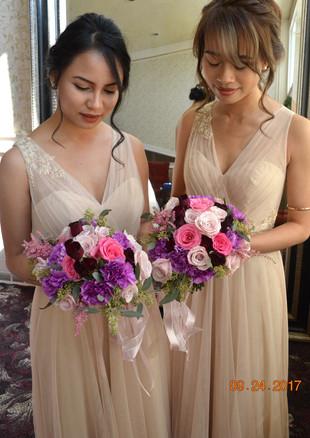 Jewel Tone Bridesmaids Bouquets