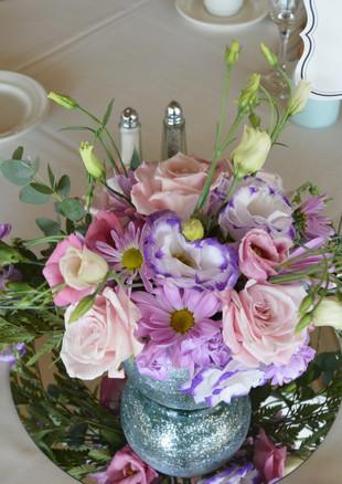 Blush, Pink, & Lavender Wedding Centerpi