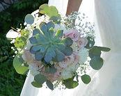 Succulent Rose Eucalyptus Wedding Flower