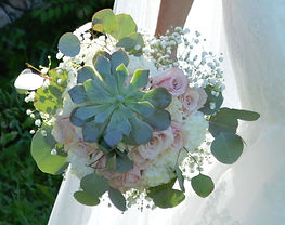 Succulent Rose Eucalyptus Wedding Flowers